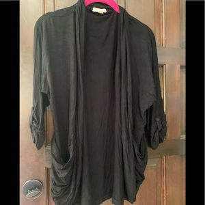 Black 3/4 long sleeve Coverup with 2 pockets